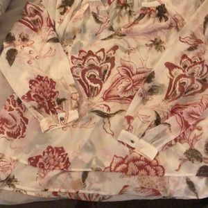 Lucky sheer floral blouse 1x